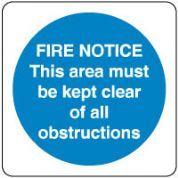 Mandatory Safety Sign - Fire Notice This 059